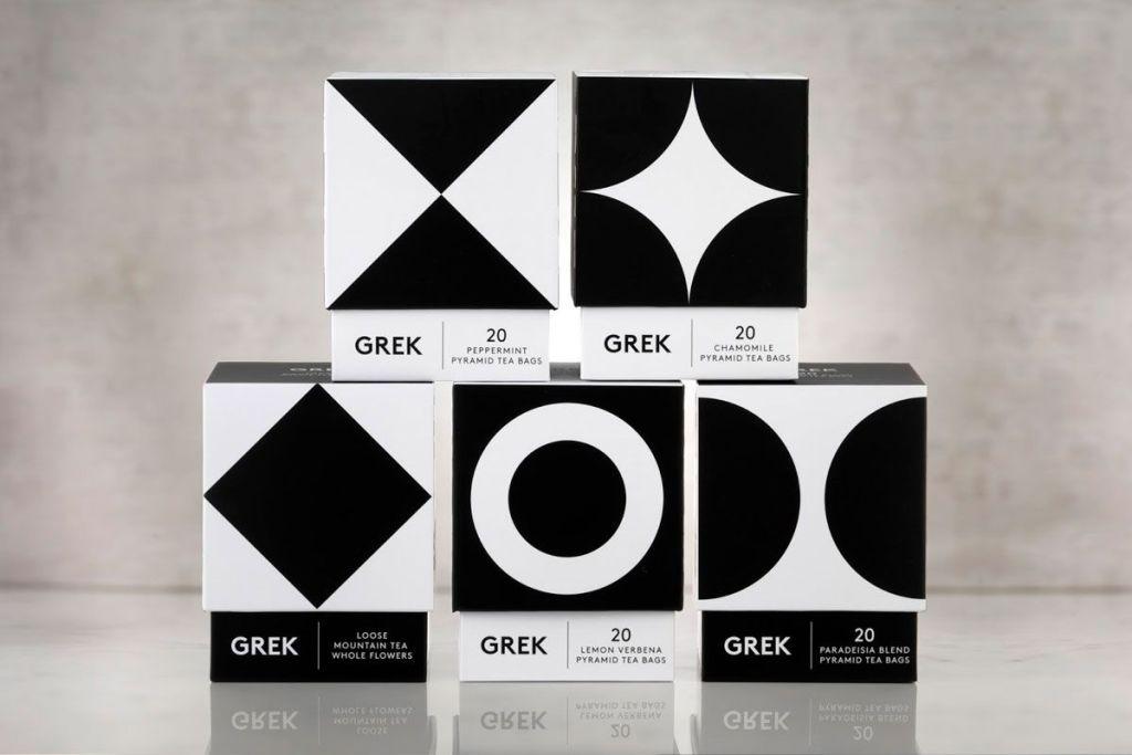 Grek Tea, marca monocromática
