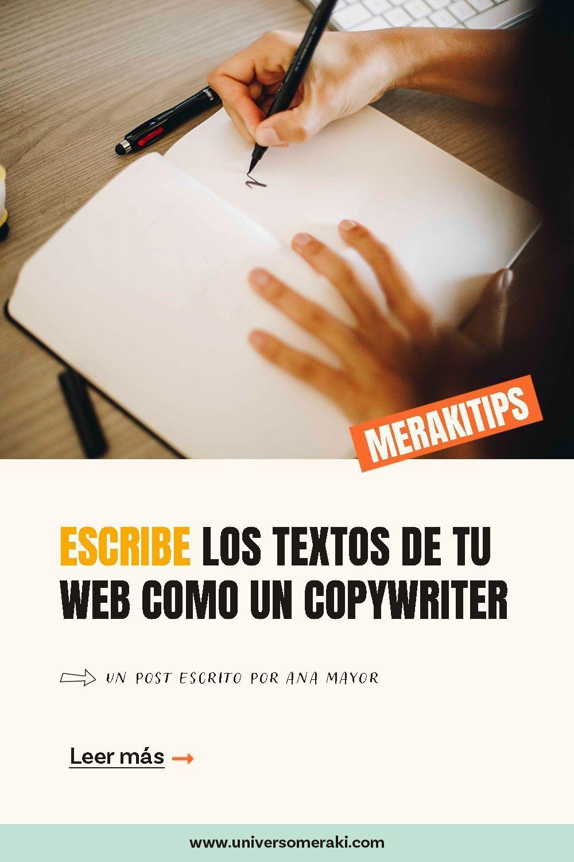 Escribe los textos de tu web como si fueras copywritter