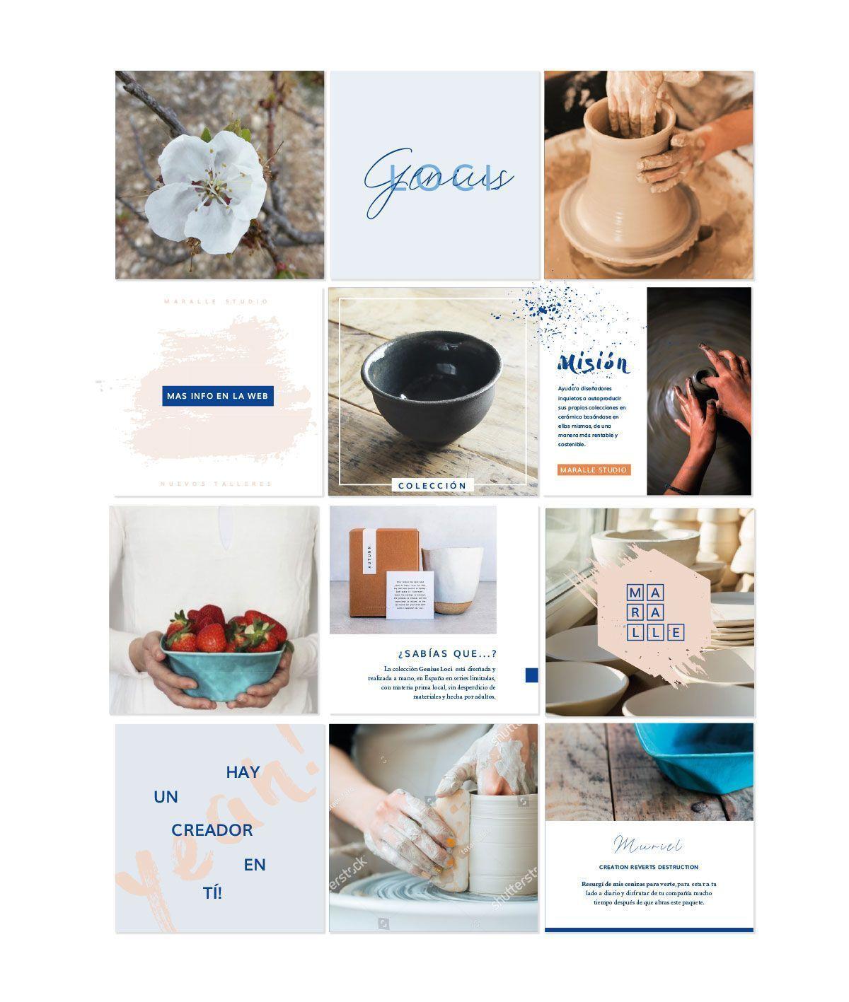 Propuesta de feed para instagram Genius Loci y Maralle