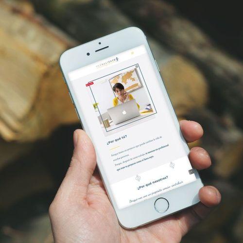 web de Laura, verbalizate.com en versión móvil