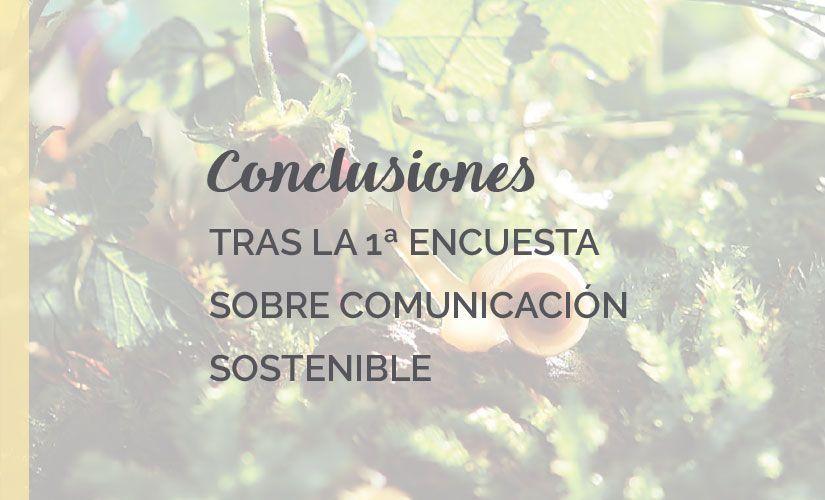 destacada artículo conclusiones de la primera encuesta sobre comunicación sostenible