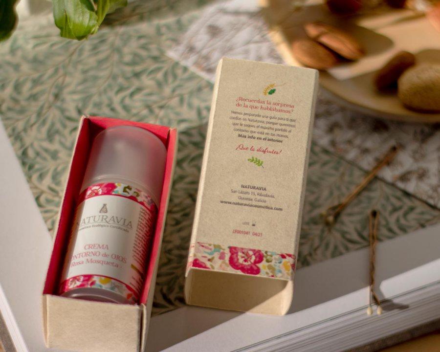 Packaging contorno de ojos Rosa mosqueta de Naturavia