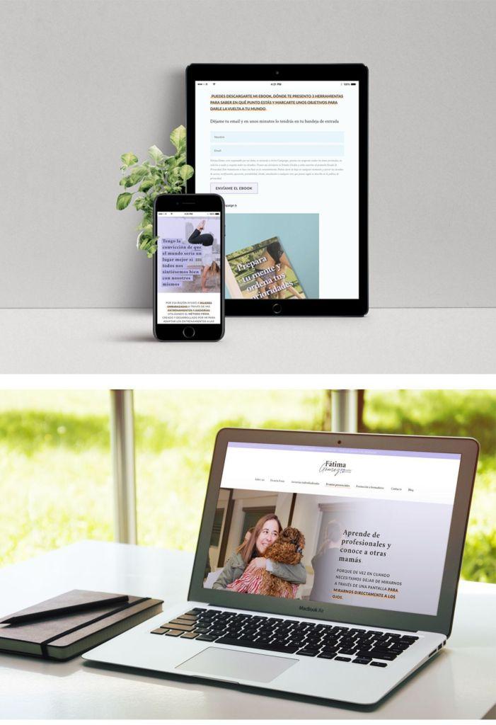 Diseño web responsive para Fátima Gómez