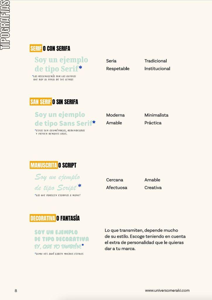 ¿Qué transmiten las tipografías según su estilo?