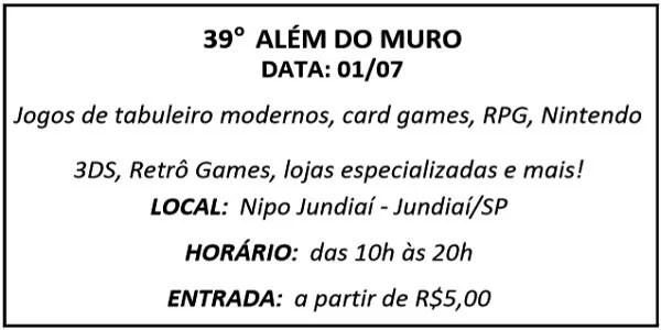 01 ALEM DO MURO - Agenda