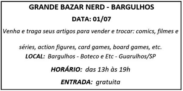 01 GRANDE BAZAR NERD - Agenda