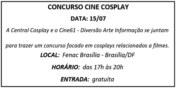 15 CONCURSO CINE COSPLAY - Agenda