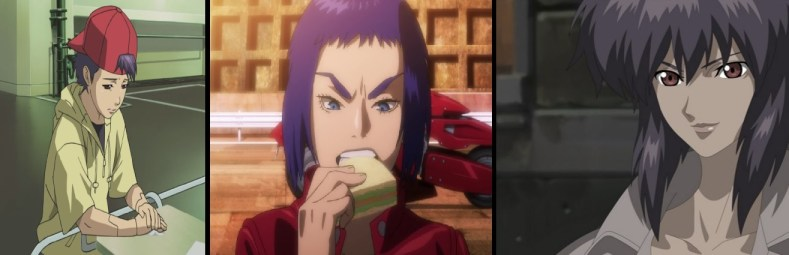 3 faces - Ghost In The Shell: O Vigilante Do Amanhã Vs Major Motoko Kusanagi