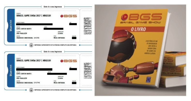 promocao premios - Sorteios: Ingressos BGS10 + Livro Do Evento!