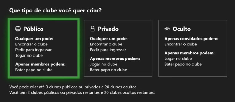 clubes xbox one figura2 - Clubes No Xbox E PC Com Windows 10