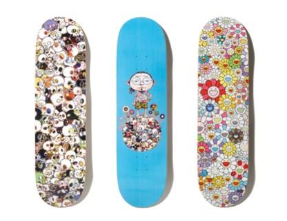 Murakami + Supreme Skateboards
