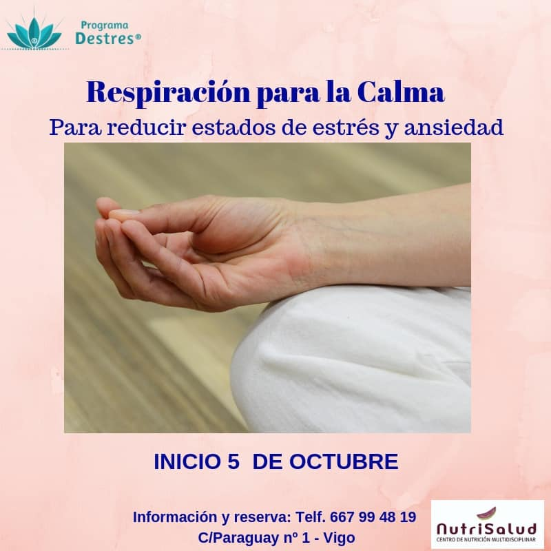 Curso respiración para la calma Octubre 18