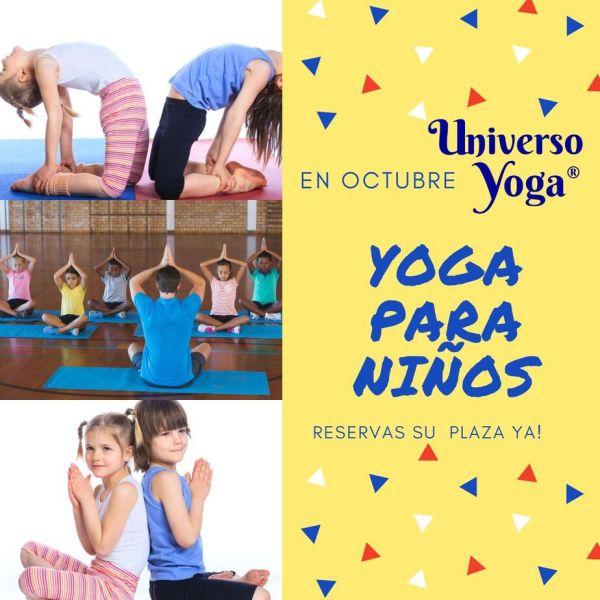 Yoga para niños, matrícula abierta Universoyoga