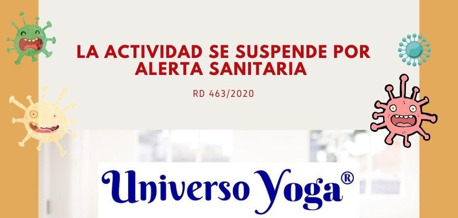 SUSPENSIÓN POR ALERTA SANITARIA COVID-19