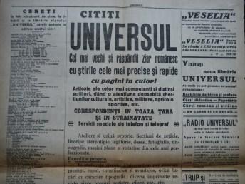 Ziarul Universul , editie speciala ,14 Sept. 1937 ;Moartea Presedintelui Masaryk 5