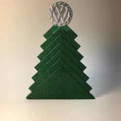 Art deco business card holder uniwerks design art deco style vw holiday tree decoration colourmoves