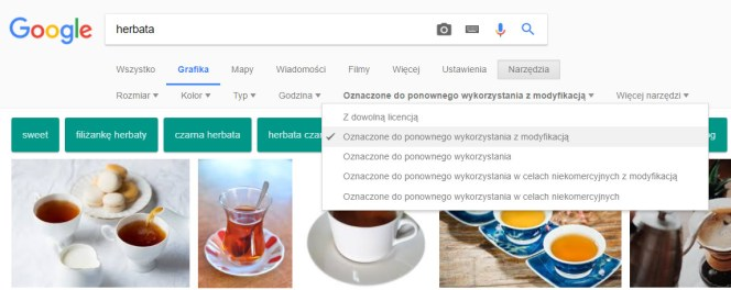rodzaje licencji Google Grafika
