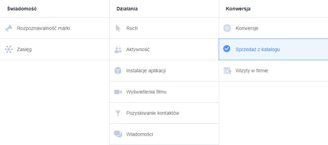 FB sprzedaż z katalogu