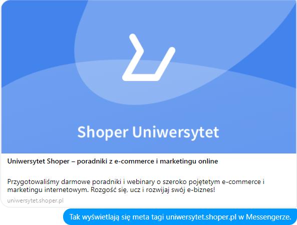 Shoper Uniwersytet – meta tagi