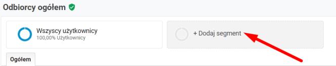 dodawanie segmentu w Google Analytics