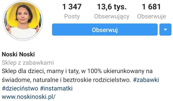 Noskinoski.pl - przykład zdjęcia profilowego na Instagramie