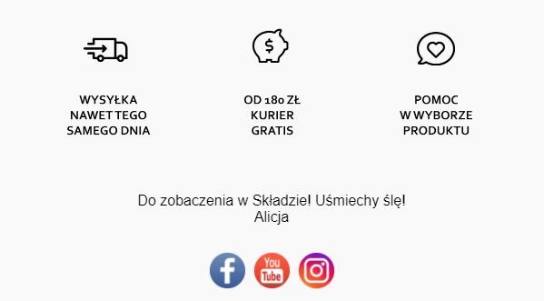 ikony w mailu transakcyjnym