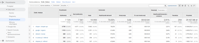Google Analytics i Skąpiec