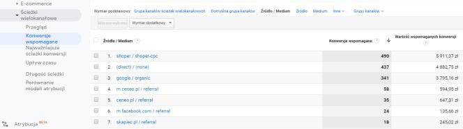 Google Analytics - Skąpiec - detale