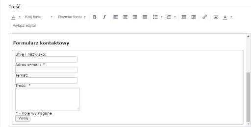 Formularz kontaktowy