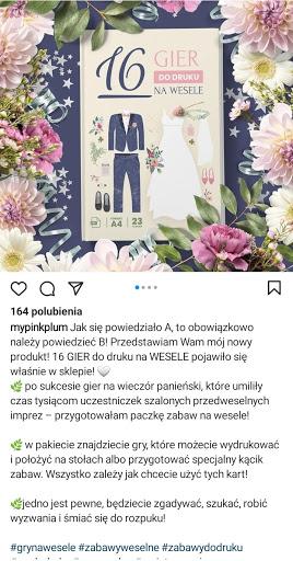 Opis zdjęcia na Instagramie
