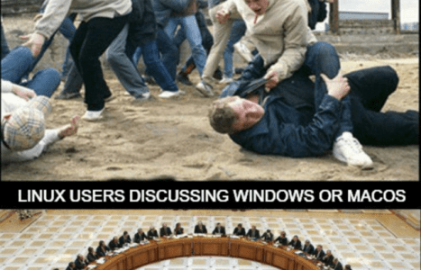 How do Linux users discuss Distros & Other OSes
