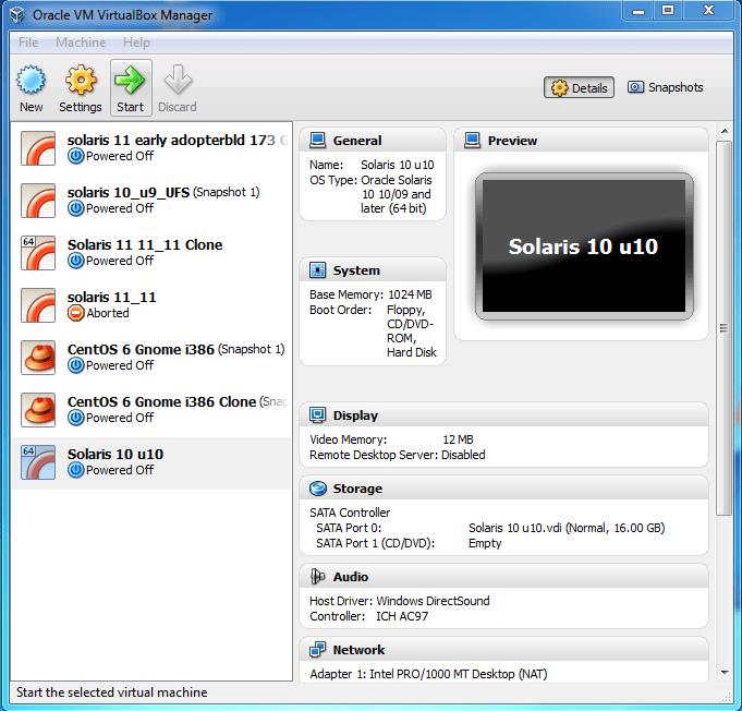 Setting Up a Solaris Lab - VirtualBox | UnixEd