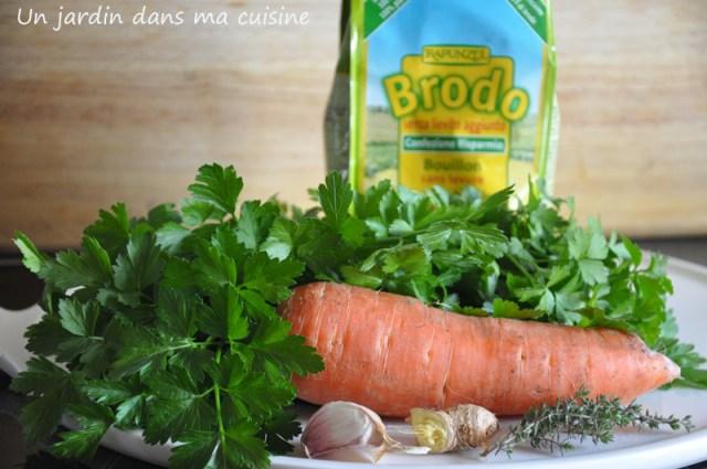 soupe persil et carottes un jardin dans ma cuisine
