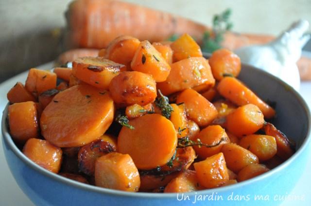 carottes sautées à l'ail un jardin dans ma cuisine