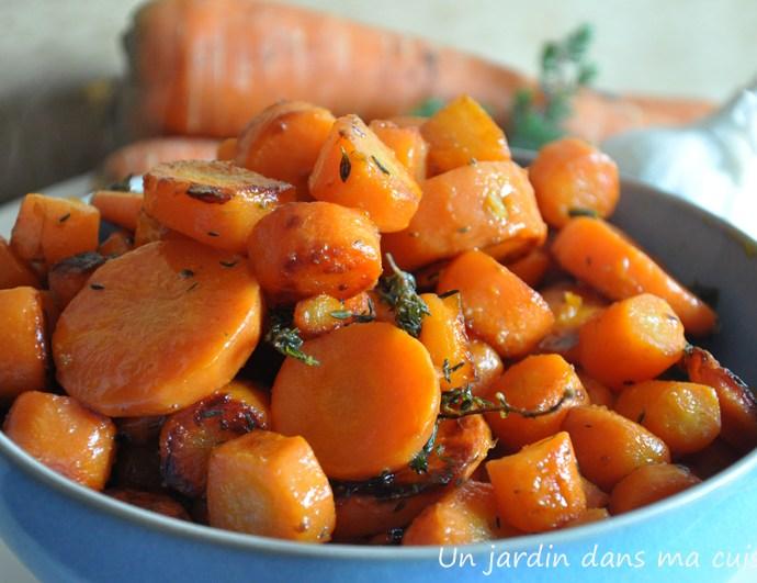 carottes sautées à l'ail