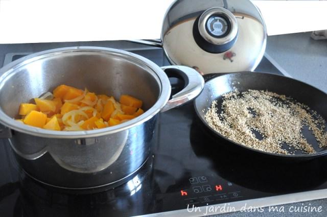 soupe de courge aux oignons un jardin dans ma cuisine