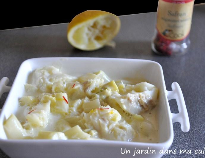 Cabillaud aux asperges sauce safran
