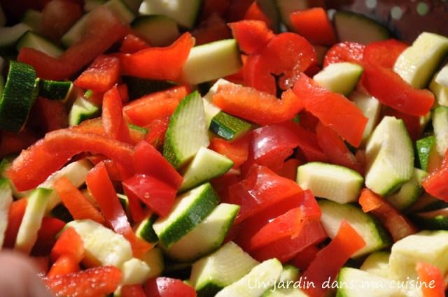 tarte poivron courgette un jardin dans ma cuisine