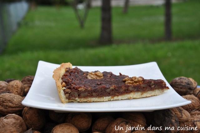 tarte noix chocolat un jardin dans ma cuisine