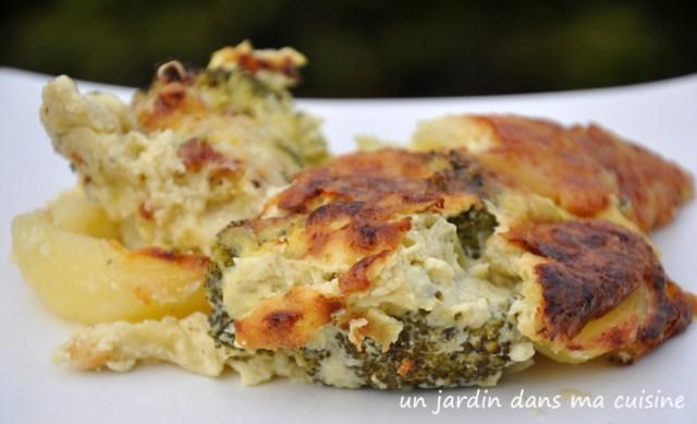 gratin brocoli pommes de terre bleu crémeux