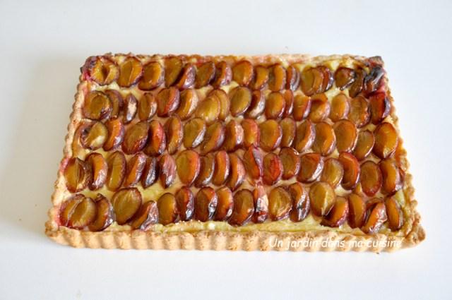 tarte quetsches amandes vanille un jardin dans ma cuisine