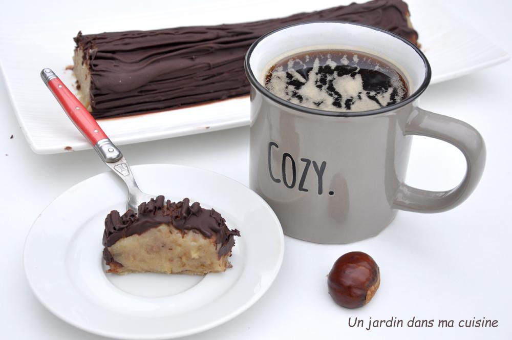 bûche châtaignes chocolat