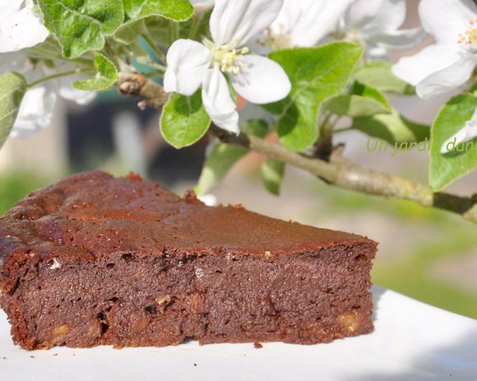 Gâteau chocolat bananes sans farine