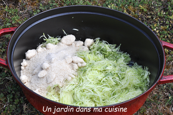 confiture courgettes citron gingembre