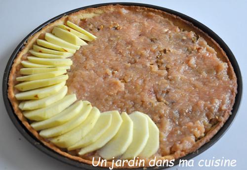 tarte noix compote pommes