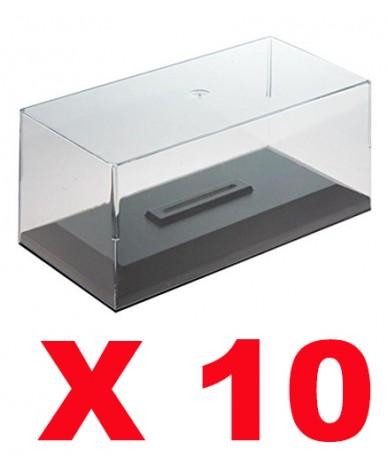boites vitrine en plexiglass 1 43 pour voitures miniature