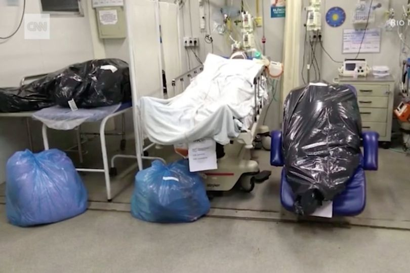 Bodies of coronavirus victims are being stashed in bin bags next to covid-19 patients
