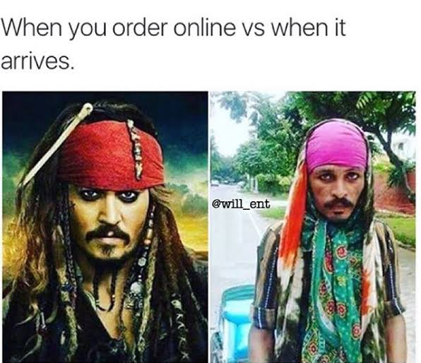 What was ordered online