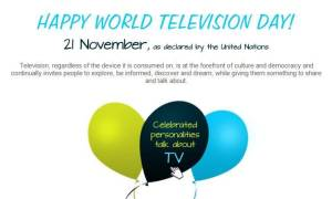 Happy World Television Day 21 November As Declared By The United Nations