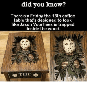 did you know theres a friday the 13th coffee table 5218652